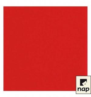 Serviettes qualité supérieure - Rouge - Paquet de 50