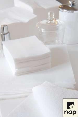 Serviettes - Blanc - Paquet de 100