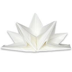 Serviette plié étoile - Blanc - Paquet de 12