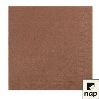 Serviettes - chocolat - Paquet de 100