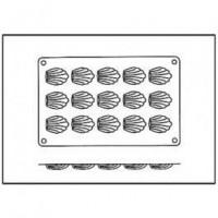 Moules silicone 15 mini madeleines.