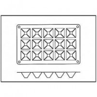 Moules silicone 15 mini pyramides.