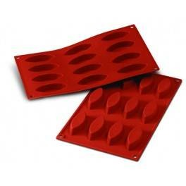Moules silicone 12 barquettes.