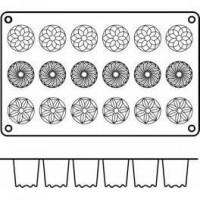 Moules silicone 18 mini kouglofs.