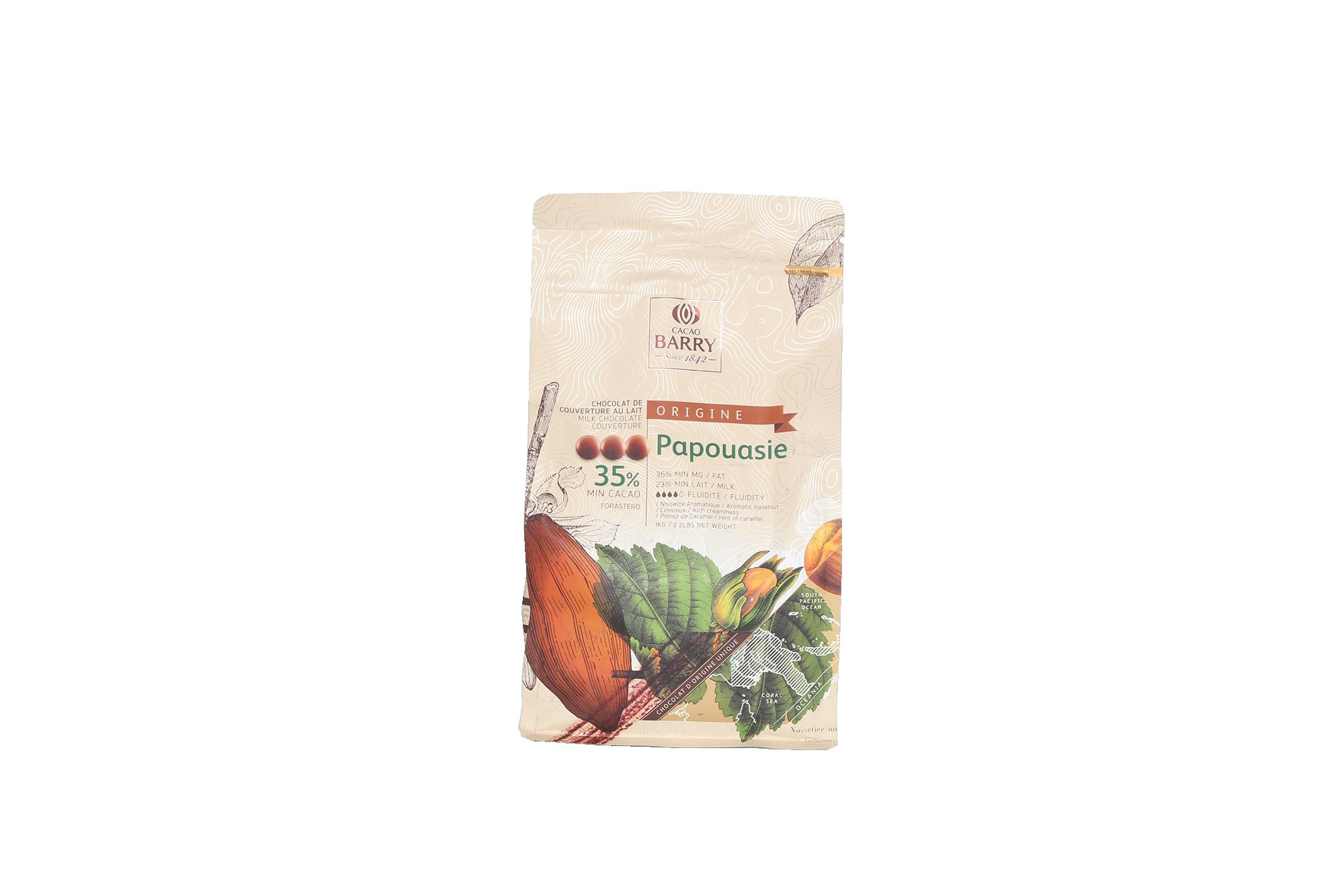Chocolat lait Papouasie 35% - 1 kg