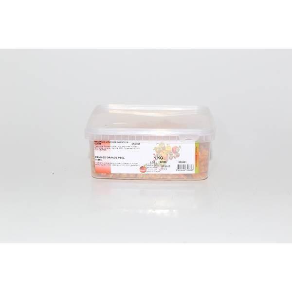 Cubes écorces oranges confites - 1 kg