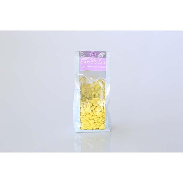 Dragées Mini-coeurs - 250g - Jaune