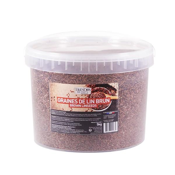 Graines de lin brun - 5 kg