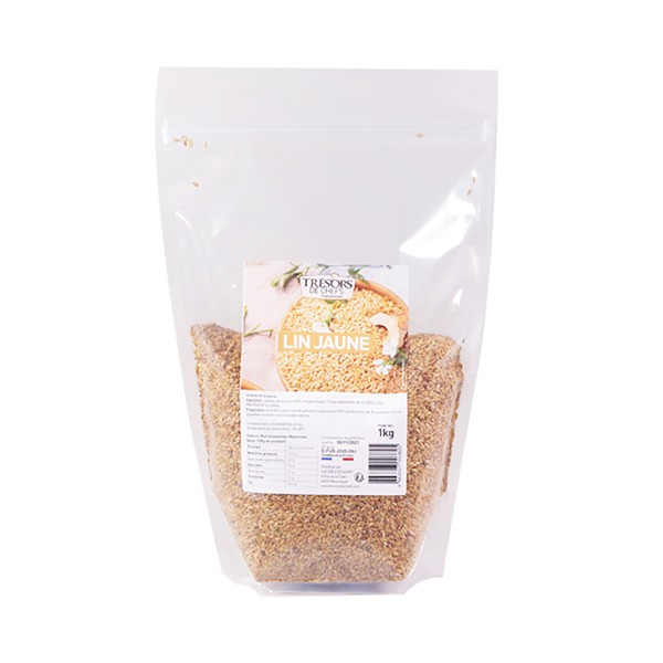Graines de lin jaune - 1 kg