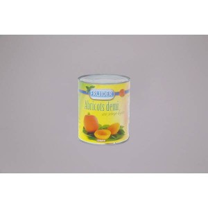 Abricots oreillons sirop - 12 x 4/4