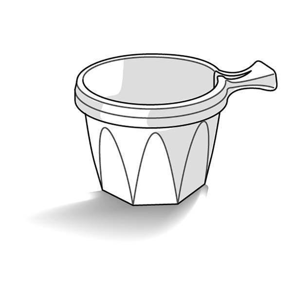 Tasse plastique blanche - x50