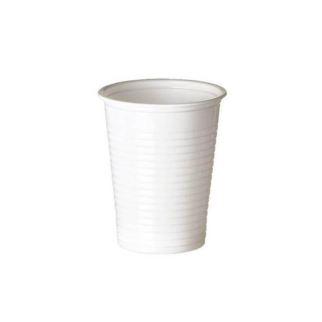 Gobelet plastique blanc - x100