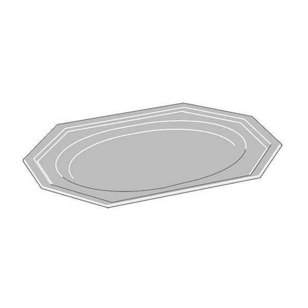 Plat octogonal long - x5 - 45 cm