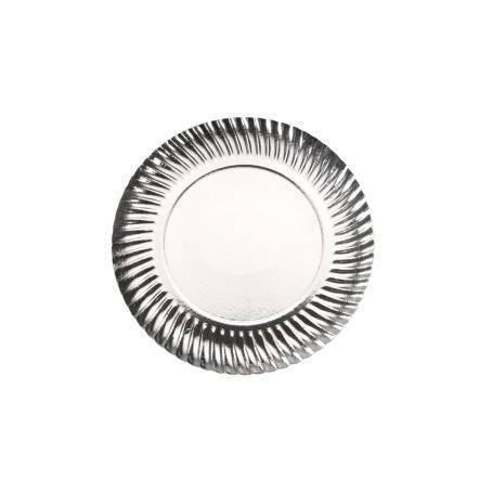 Assiette argent - 21 cm