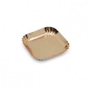 Mini assiette or - x100