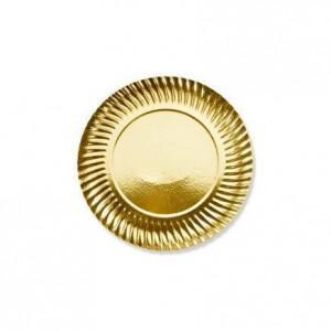 Assiette or - 21 cm