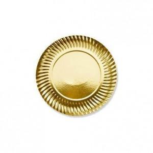 Assiette or - 13 cm