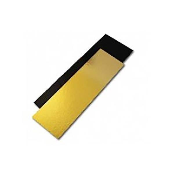 Semelle à bûche or/noir - x50 - 1 m