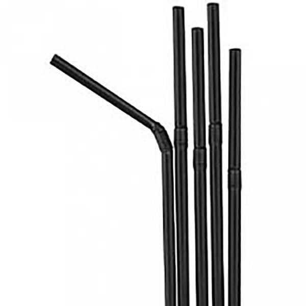 Pailles noires coudées - x25
