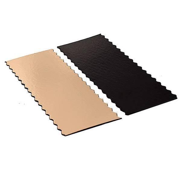 Semelle festonnée or/noir - x50 - 40 cm