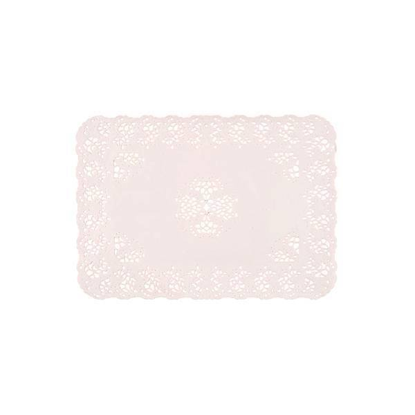 Dentelle rectangle blanc. - x250