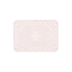 Dentelle rectangle blanc. - x250