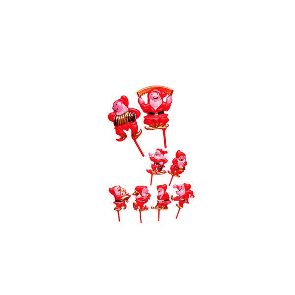 Lutins rouges décorés