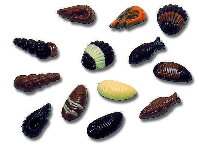 Assortiments (coquilles, poissons, crevettes, escargots, moules)