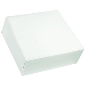 Boîte pâtissière blanche - x25 - 40 x 10 cm