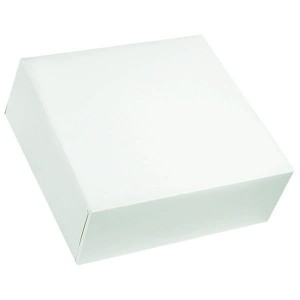 Boîte pâtissière blanche - x50 - 23 x 10 cm
