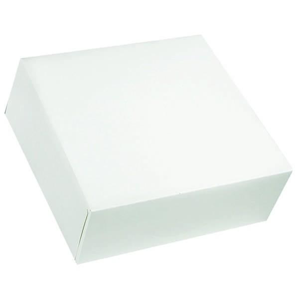 Boîte pâtissière blanche - x25 - 40 x 5 cm