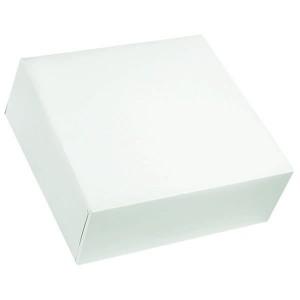 Boîte pâtissière blanche - x50  - 16 x 5 cm