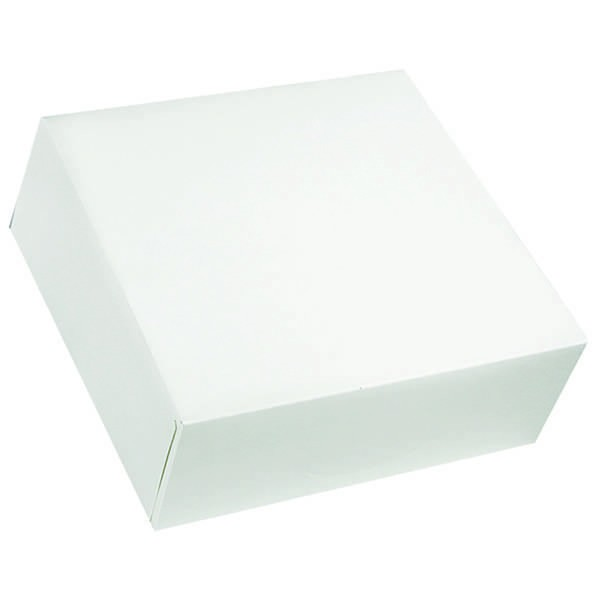 Boîte pâtissière blanche - x50 - 23 x 5 cm