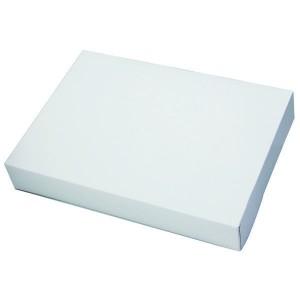 Boîte traiteur blanche - x1  - 28 x 20 cm