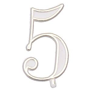Chiffres blanc et or - x10 - n°5
