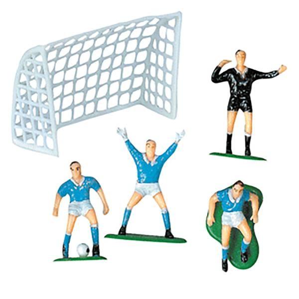 Sujet joueurs de football et but