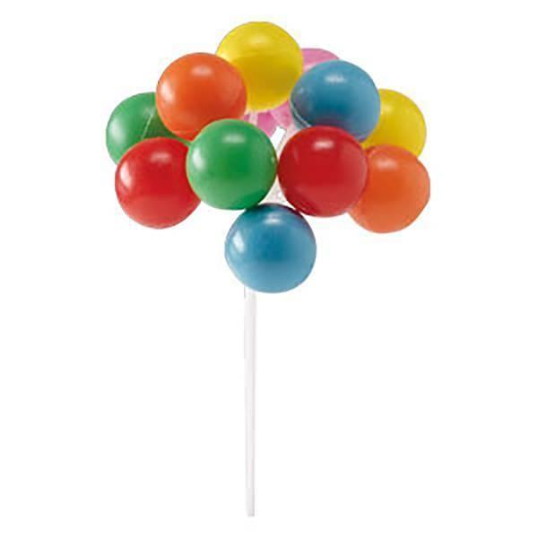 Piquet ballons multicolores