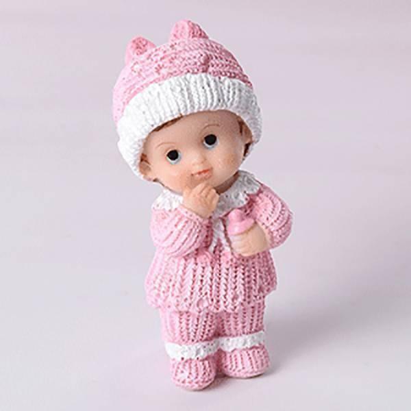 Bébé en résine rose - 7,5cm