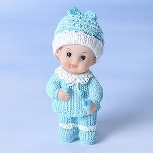 Bébé en résine bleu - 7,5cm