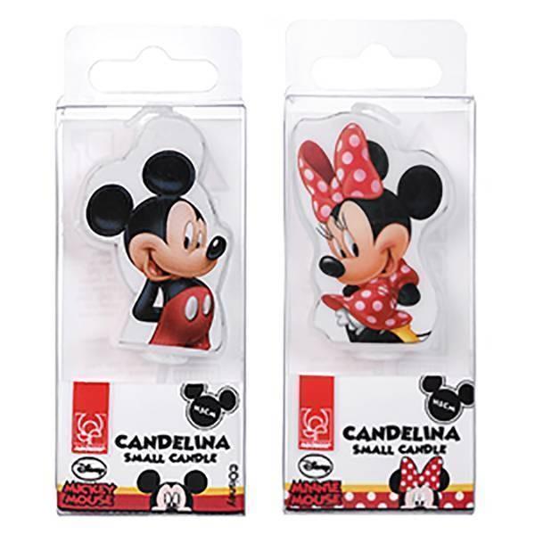 Bougie plate Mickey et Minnie