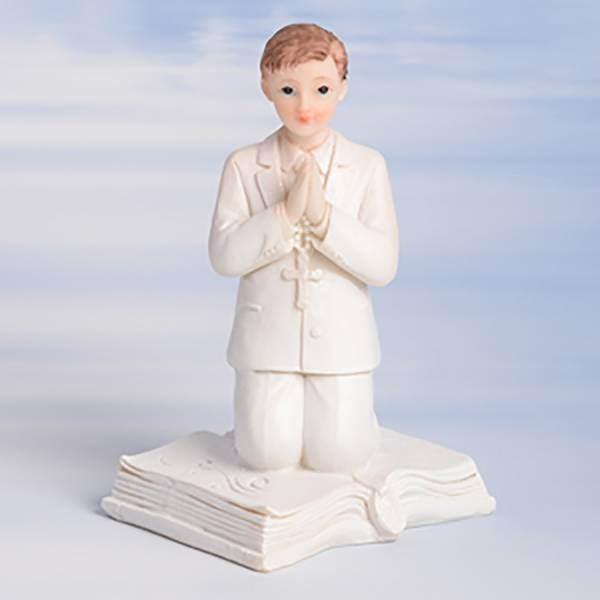 Sujet garçon communion sur livre