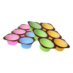 Moule de couleur pour 6 muffins