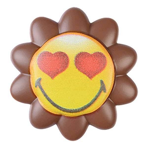 Fleur smiley chocolat- x4