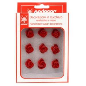 Mini fleurs en sucre rouge - 81g