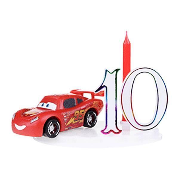 Bougie à chiffres Cars