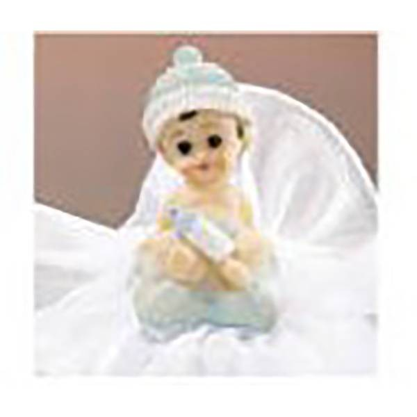 Sujet bébé bleu assis