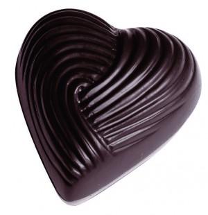 Bonbons coeur strié