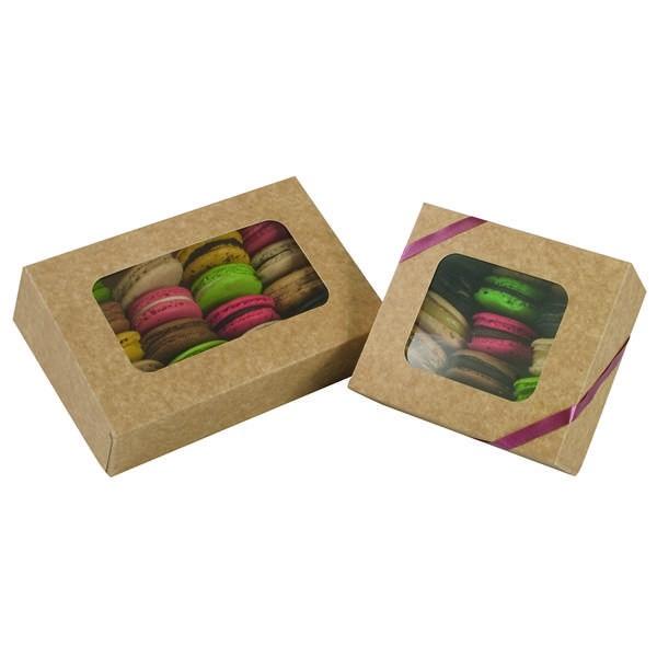 Boîte macarons kraft - x50 - 12 cm