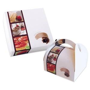 Boîte pâtissière Eden - x50  - 25 x 8 cm