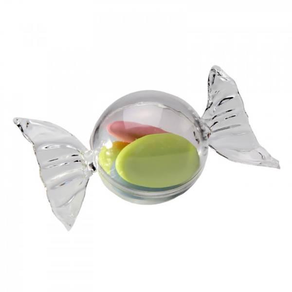 Bonbon rond transparent